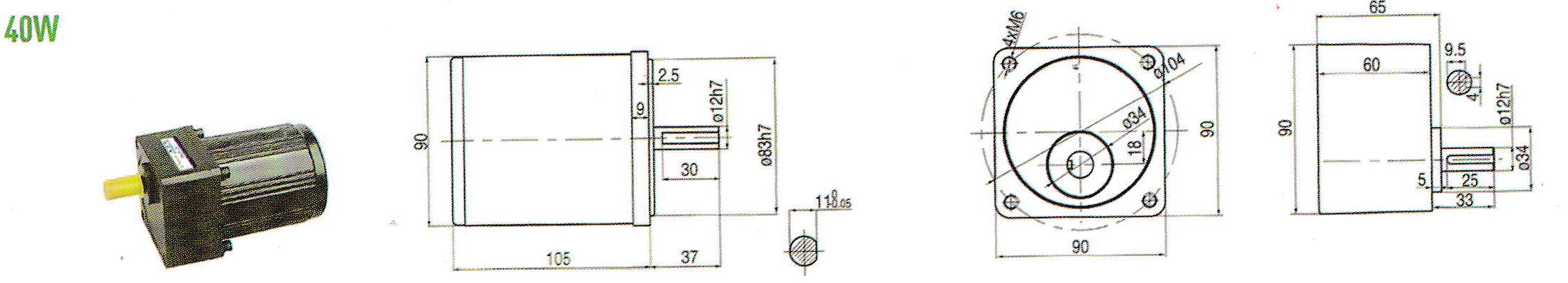 cấu tạo motor mini 40W
