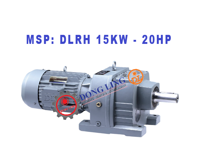 Motor giảm tốc tải nặng DLRH 20HP/15KW