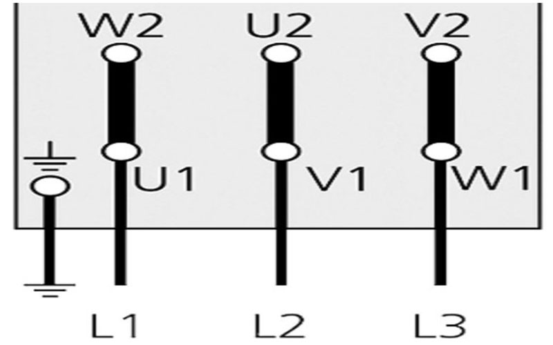 Cách đấu dây motor 3 pha hình tam giác